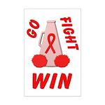 Red Go WIN Ribbon Mini Poster Print