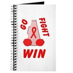 Red Go WIN Ribbon Journal