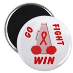 Red Go WIN Ribbon Magnet
