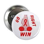 Red Go WIN Ribbon Button
