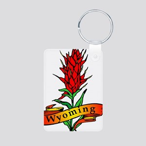 Indian Paintbrush - Wyoming Aluminum Photo Keychai