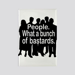 People Rectangle Magnet