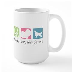 Peace, Love, Irish Setters Large Mug