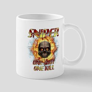 Sniper Skull One Shot One Kil Mug
