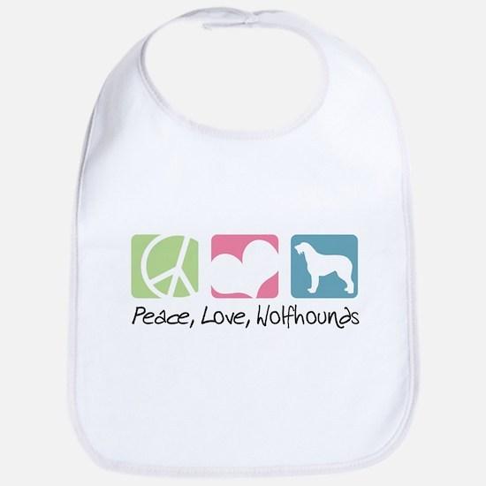 Peace, Love, Wolfhounds Bib