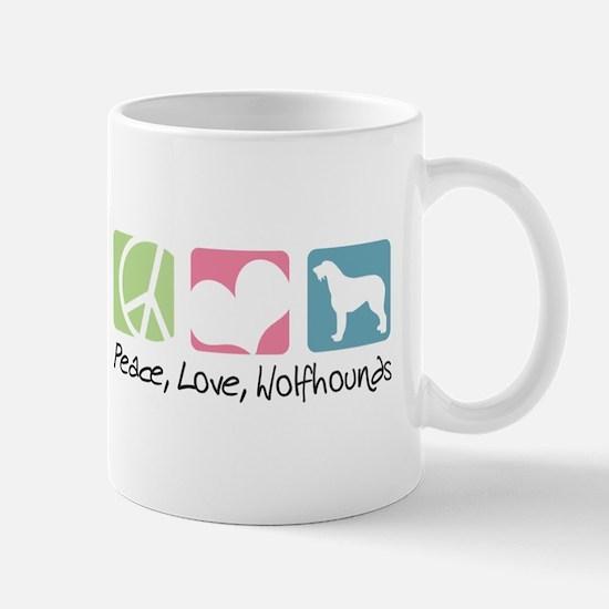 Peace, Love, Wolfhounds Mug