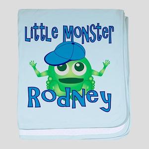 Little Monster Rodney baby blanket
