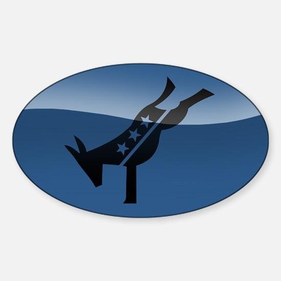 Kicking Ass Sticker (Oval)