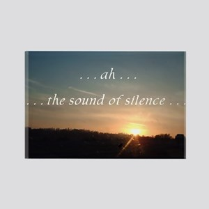 Sound of Silence Rectangle Magnet