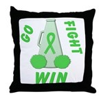 Lime WIN Ribbon Throw Pillow