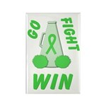 Lime WIN Ribbon Rectangle Magnet (10 pack)