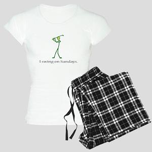 Swing on Sundays Women's Light Pajamas