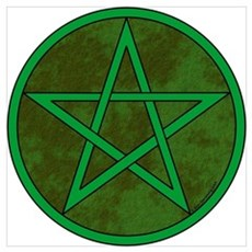 Elemental Pentacle 16x20 - Earth Poster