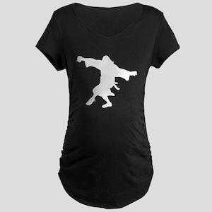 Dancing Dude Maternity Dark T-Shirt