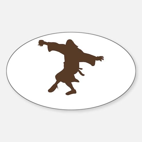 Dancing Dude Sticker (Oval)
