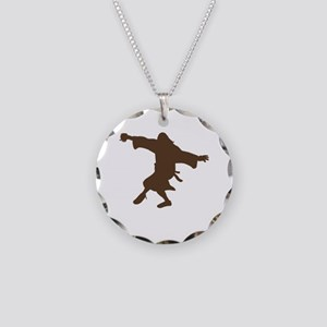 Dancing Dude Necklace Circle Charm
