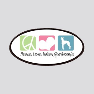 Peace, Love, Italian Greyhounds Patches