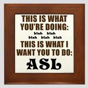 THIS IS WHAT I WANT YOU TO DO Framed Tile