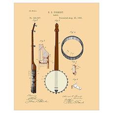 Banjo Patent Poster