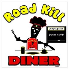 Road Kill Diner Framed Print