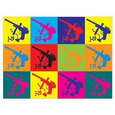 Paintball Pop Art Poster