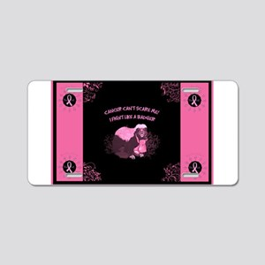 Cancer Awareness Aluminum License Plate