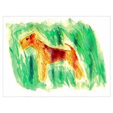 Watercolor Lakeland Terrier Poster