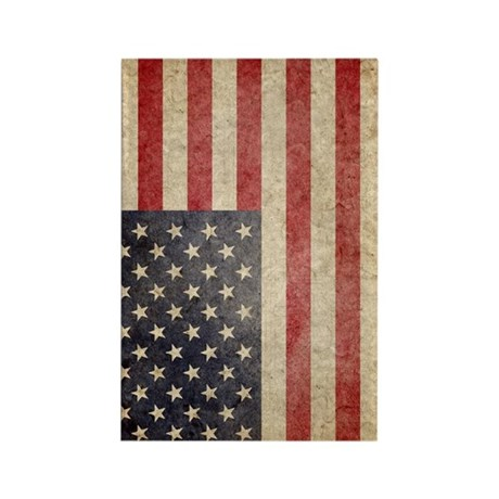 US Faded Flag Rectangle Magnet