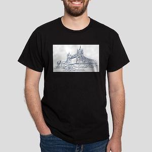 London: Tower Bridge Ash Grey T-Shirt