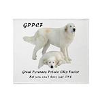 Great Pyrenees Potato Chip Throw Blanket