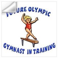 Future Olympic Gymnast In Tra Wall Decal