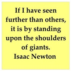 Sir Isaac Newton quotes Poster