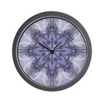 Lavendar Fractal Wall Clock