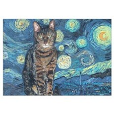 """Starry Night Life"" Poster"