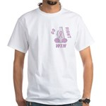 Lavender WIN White T-Shirt