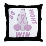 Lavender WIN Throw Pillow