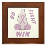 Lavender WIN Framed Tile