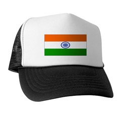 India Indian Blank Flag Trucker Hat