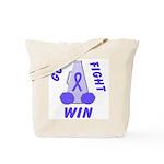 Periwinkle WIN Ribbon Tote Bag