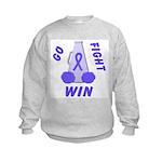 Periwinkle WIN Ribbon Kids Sweatshirt