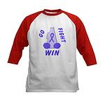 Periwinkle WIN Ribbon Kids Baseball Jersey