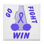 Periwinkle WIN Ribbon Tile Coaster