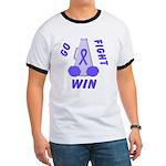 Periwinkle WIN Ribbon Ringer T