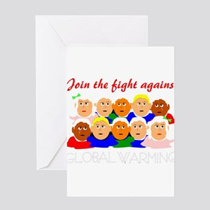 fight global warming Greeting Card