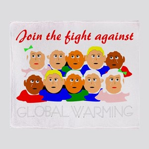 fight global warming Throw Blanket