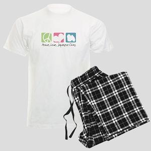 Peace, Love, Japanese Chins Men's Light Pajamas