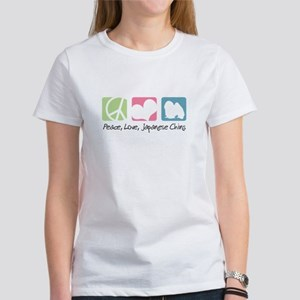 Peace, Love, Japanese Chins Women's T-Shirt