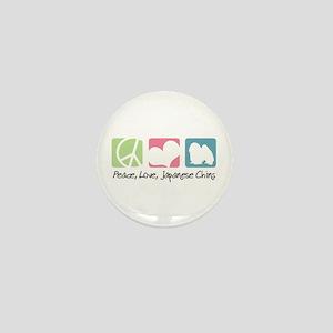 Peace, Love, Japanese Chins Mini Button