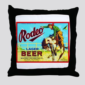 California Beer Label 2 Throw Pillow