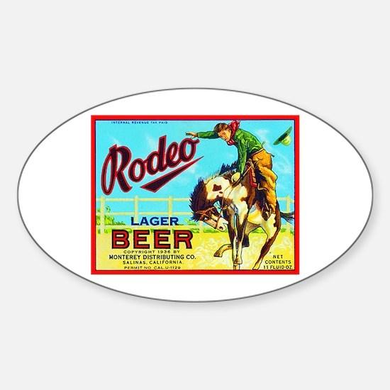 California Beer Label 2 Sticker (Oval)